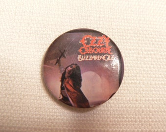 Vintage Early 80s Ozzy Osbourne - Blizzard of Ozz Album -  Pin / Button / Badge