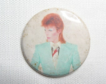 BIG Vintage Late 1970s David Bowie - Ziggy Stardust Pin / Button / Badge