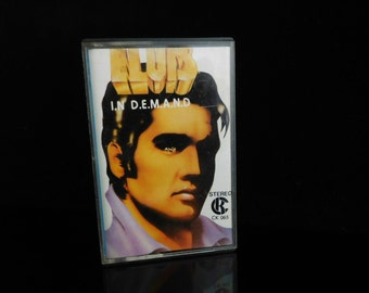Vintage Music Tape, ELVIS In Demand, 1960s Made in Japan, collectible toy, cult Music MC, Recorded Audio