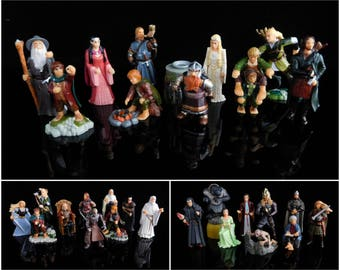 Vintage Toys, Collectible, The Lord of the Rings, Set I, II, III, 3 Complete Series of Kinder Surprise Figurines, Ork, Gollum, Gimli, Eowyn