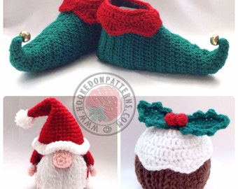 Curly Toes Elf Slipper Shoes Crochet PDF Pattern