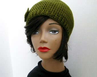 Urban Belle: An Innate Expressions' Beanie for Women in Forest Floor Green- READY TO SHIP