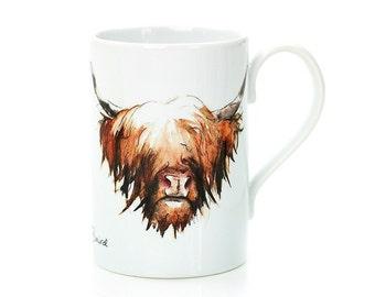 Highland Cow Porcelain Mug