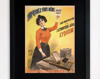 "LARGE 20""x16"" FRAMED Advertising Print, Black or White Frame/Mount, French Advert"