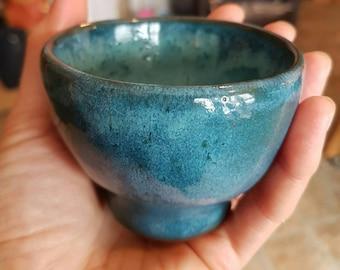 Ceramic Espresso/Wine Goblet.