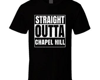Straight Outta Chapel Hill North Carolina City Compton Parody Grunge T Shirt