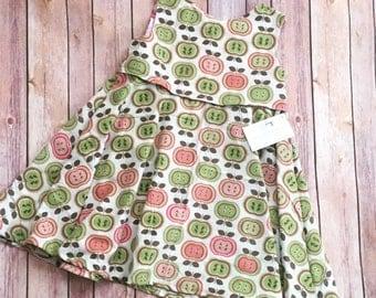 Corduroy Jumper, Apple Dress, 5T Fall Jumper, Girl's Corduroy Dress, Fall Dress