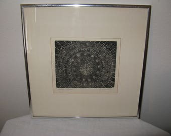 """Vintage Print """"LACE"""" by Listed Contemporary CHICAGO artist Garnet Gullborg"""