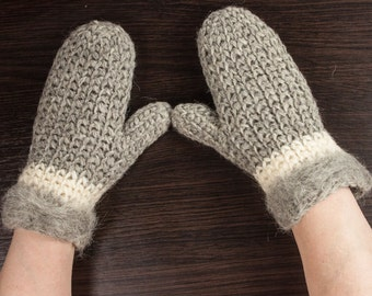 Goat wool mittens, Gift For Her, Gift For Christmas,  gift for mom, gift for winter by LoveKnittings