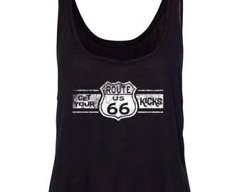 Route 66 Get Your Kicks Women's Boxy Tank Top Tees