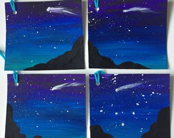 Dreamy night sky gift tag