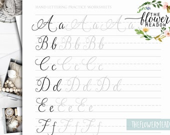 Calligraphy tutorial, learn calligraphy, Hand lettering guide, modern lettering worksheets lettering practice wedding brush alphabet 07
