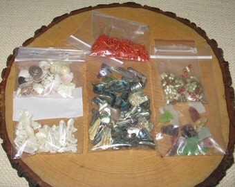 Beading Supplies - Variety of Ocean Themes - Coral, Abalone, Mother of Pearl, Fresh Water Pearls, Etc.