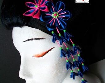 PIN geisha cyber punk, kanzashi neon