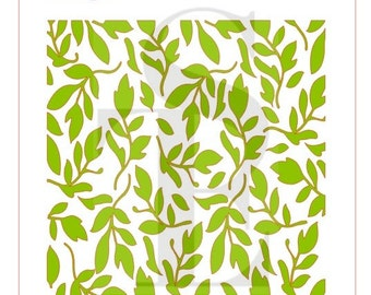 Greenery Background Stencil