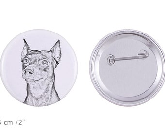 Buttons with a dog - German Pinscher