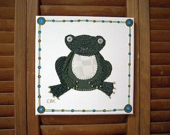 Frog #3 Fabric Wall Art