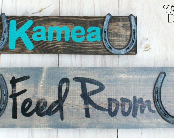Two Sign Pack - Custom Personalized Barn Signs - Design Your Own Personalized Horse Name Sign - Stable sign, rustic horse decor, TDD22-1-1
