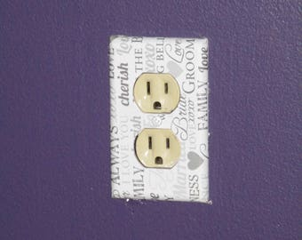 Outlet Cover Wedding  Wall-Plate