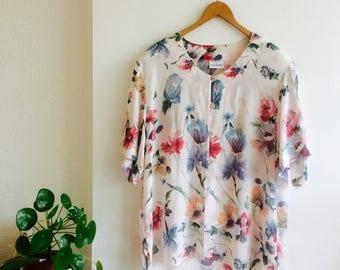 Floral blouse | vintage floral blouse| 80s blouse| floral 90s blouse | oversized blouse | size 40/L/Xl