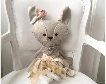 Animal doll, Cloth doll, rag doll, fabric doll, animal rag doll, baby toy, baby room, baby gift, baby room decoration, deer doll,