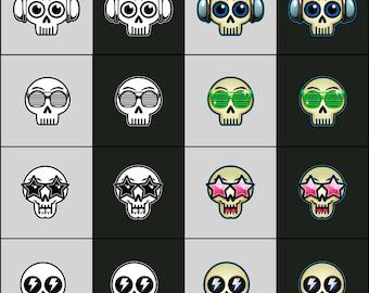 Skullycons Skull Emoticons & Icons - Freaks N Geeks