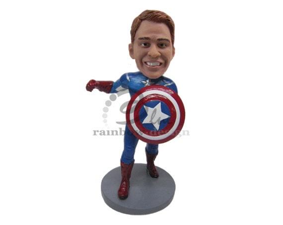 Custom Bobblehead New Captain America Captain America Custom