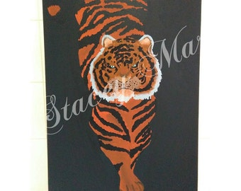 Tiger canvas piece (SIZE A2)