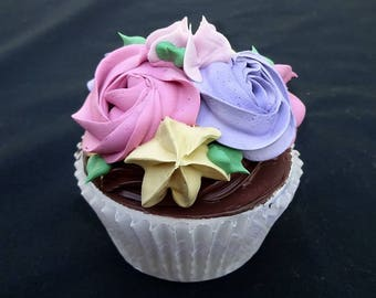 Chocolate Spring Time Rosette Cupcake