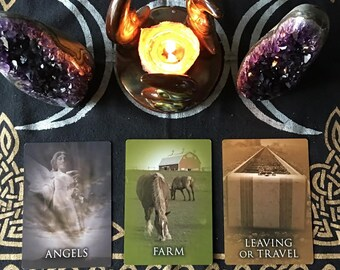 3 Card E-mail Past Life Oracle Reading ~ Clairvoyant ~ Psychic ~ E-mail within 48 hours