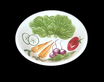 Vintage Ironstone Bowl, Vegetable Bowl, Veggie Bowl, Hand Painted Bowl, Vintage Serving Bowl, Home Decor, Collectible, Ironstone Bowl, China
