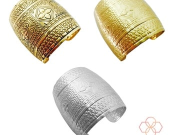 Fitbit Bracelet for Fitbit Flex and Flex 2 Fitness Activity Trackers - The ESMERELDA Gold or Silver Cuff Wearable Tech Bracelet - Ship FREE