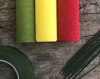 60g - DIY Italian Crepe Paper - Kit 6