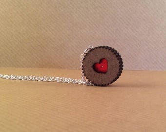 Heart Biscuit Necklace