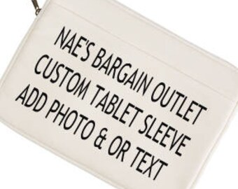 "Custom Canvas Tablet Sleeve 9"",  Personalized Ipad Carrying Case, Angels Tablet Cover"