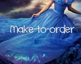 Make-to-order Cinderella costume cosplay live action movie 2015