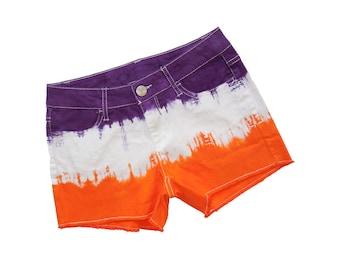 Orange + Purple Tie Dye Shorts