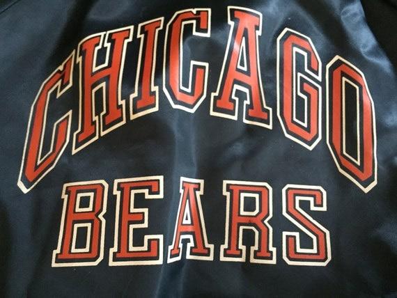 b40c931ca9ce new Vtg 80s 90s Chicago Bears Chalk Line Satin Bomber by RetroHeadz ...