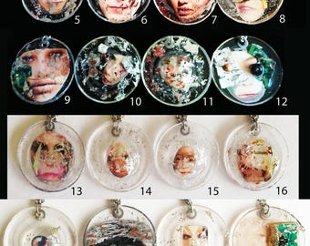 Unique handmade design resin necklaces. FrancescaRoseJ.Only one available of each, choose which one you would like from the dropdown menu.