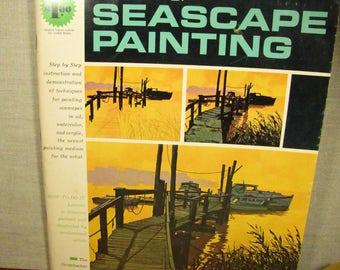 Vintage Grumbacher Art Book - Seascape Painting - 1968