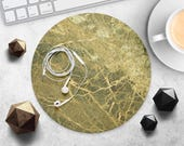 Green Marble MousePad Computer Mouse Mat Stone Mouse Pad Accessory Office Supplies MouseMat Gift Desk Decor Design MousePad Rubber MouseMat