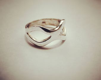 Sterling Silver 'mask' Ring