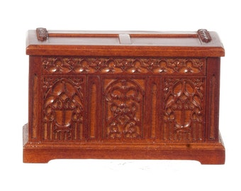 1:12 Scale JBM Miniature 15th c. Tudor Coffer Chest