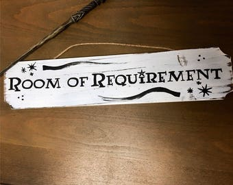 "Harry Potter Wall Decor, ""Room of Requirement"" sign."