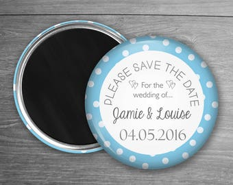 Blue Save The Date Wedding Magnets - Custom Save The Dates - Wedding Invitation - Blue Wedding -  Something Blue - Were Getting Married