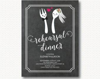 Rehearsal Dinner Invitation, Rehearsal, Party, Unique, Bride, Groom, Fun, Chalkboard, Cute, Co-ed,DYI, Digital, Printable,