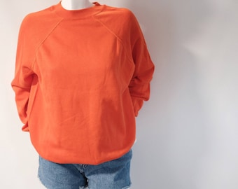 SALE* Vintage cotton orange sweater from 1980s