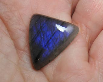 Blue to Dark Blue Triangle Shaped Cabochon