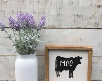 Cow sign/ cow/ kitchen decor/ kitchen sign/ home decor/ farmhouse decor/ country decor/ wood signs/