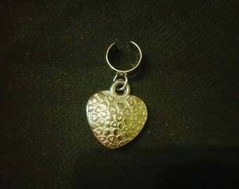 Heart dreadlock bead cuff